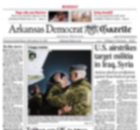 Arkansas newspaper frontpage