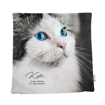 """Tyynynpäällinen """"Koti ilman kissaa"""""""