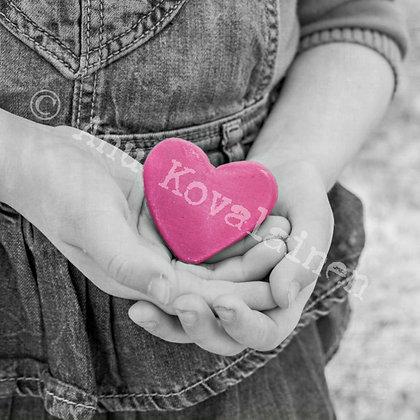 """Postikortti """"Pinkki sydän"""""""