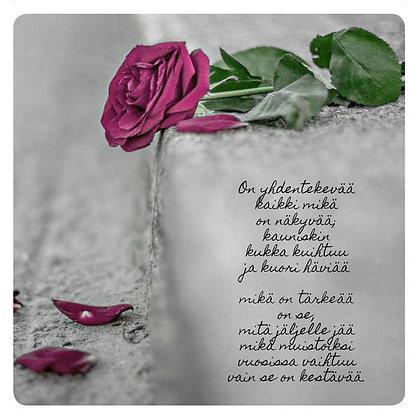 """Postikortti """"Rikkinäinen ruusu"""""""