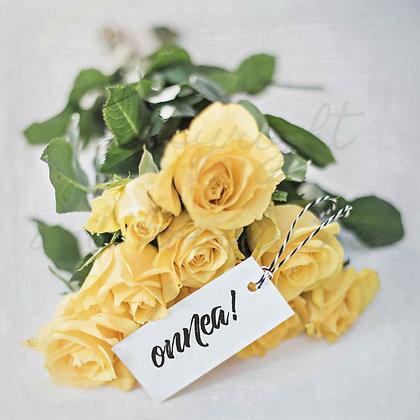 """Postikortti """"Keltaiset ruusut"""""""