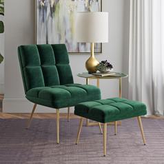 Chair & Ottomans