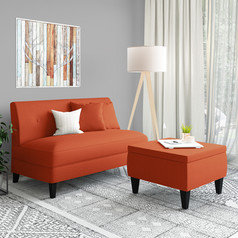 Loveseats and Storage Ottomans