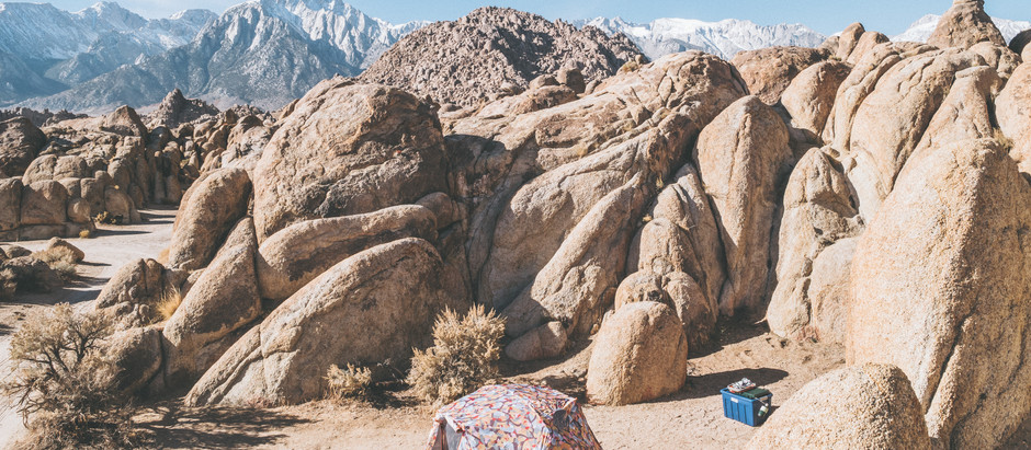 Free Camping at Alabama Hills, CA