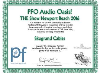 Audio Oasis Award THE Show Newport 2016