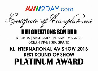 Best Sound of Show in Kuala Lumpur 2016