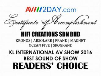 Best Sound Of Show Reader's Choice Award