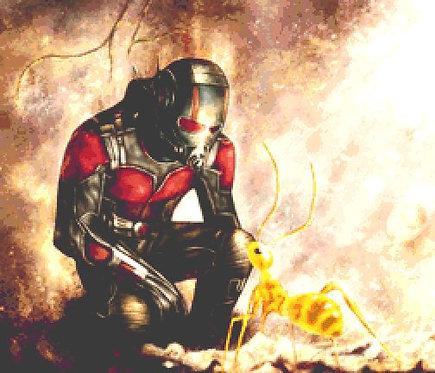 Antman Cross Stitch Kit - Chart - Marvel - Avengers - Andrey