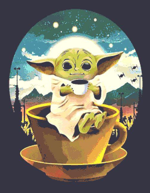 Baby Yoda Cross Stitch Kit - Star Wars