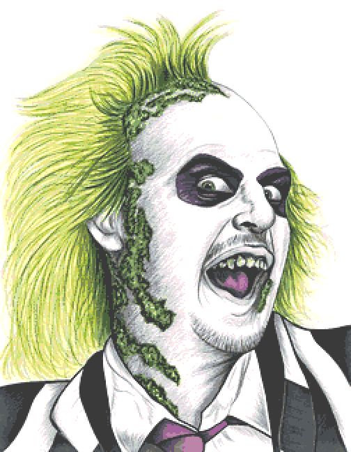 Beetlejuice Large Cross Stitch Chart PDF