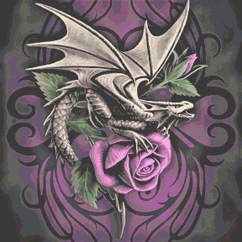 Dragon Beauty Large Cross Stitch Chart PDF