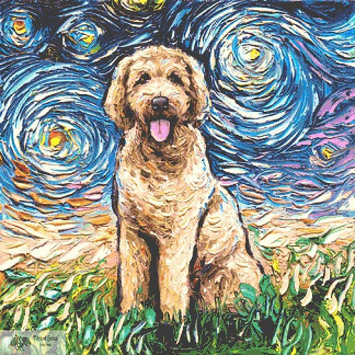 Goldendoodle Cross Stitch Chart - Kit - Dog