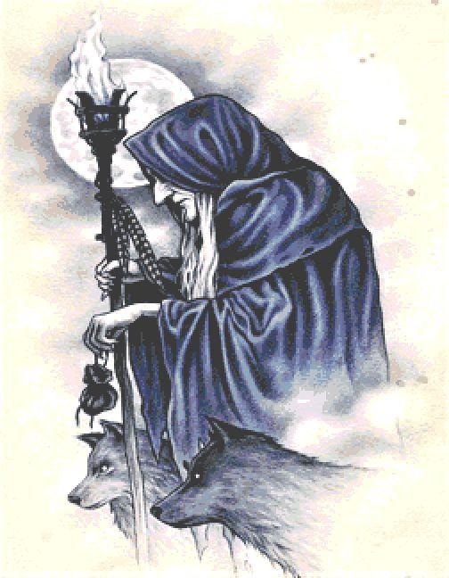 Old Witch Large Cross Stitch Chart PDF