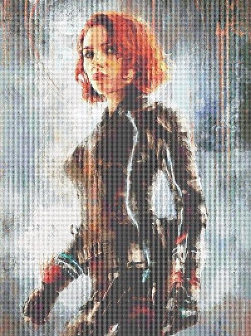 Black Widow Cross Stitch - Marvel - Avengers - Geeky - Andrey