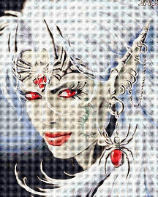 Lloth Cross Stitch - Gothic - Fantasy - Demon -Magic - Candra