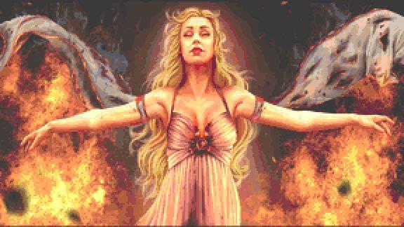 Fire Cross Stitch - Fantasy - Game of Thrones - Daenerys - Inna