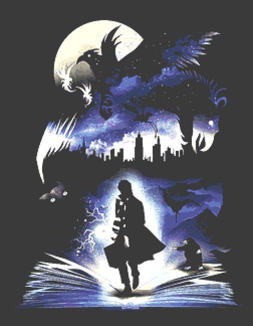 Fantastic Beasts Large Cross Stitch Chart PDF - Harry Potter