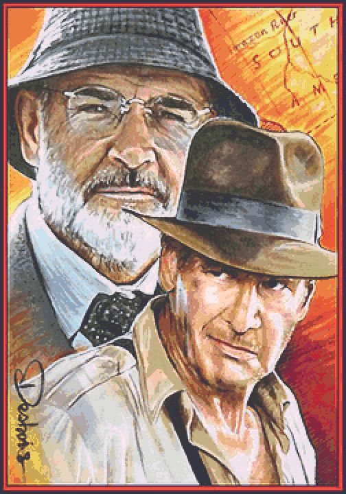 Indiana Jones Cross Stitch Chart - Kit  - Desbois