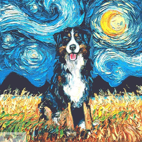 Bernese Mountain Dog Cross Stitch Chart - Kit - Dog
