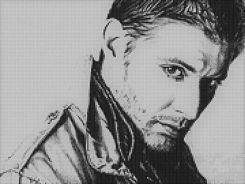 Dean Winchester Cross Stitch Chart - Kit - Supernatural - Jensen Ackles - Kupp