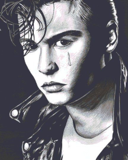 Cry Baby Cross Stitch Chart - Kit - Johnny Depp