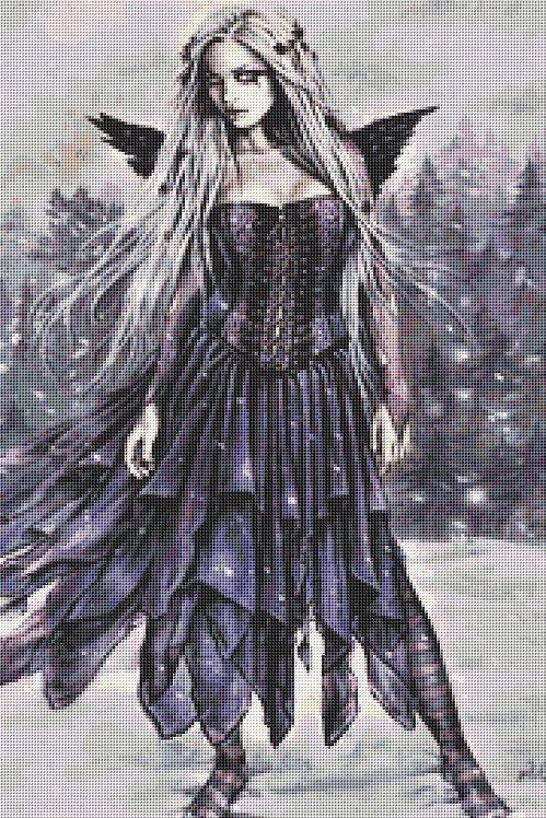 Snow Fairy Cross Stitch Chart PDF