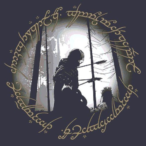 Boromir Cross Stitch  Chart - Kit - Lord of the Rings