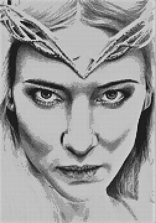Galadriel Cross Stitch Chart - Kit - Elf Queen - Lord of the Rings - The Hobbit