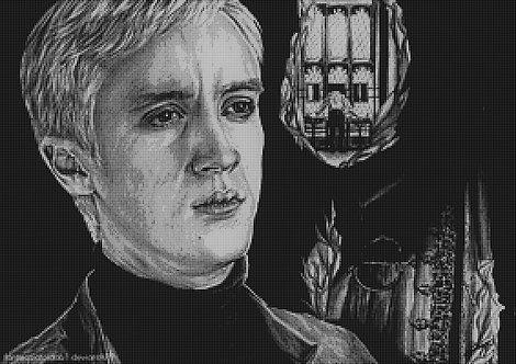 Draco Malfoy Cross Stitch Chart - Kit - Harry Potter - Wizard - Kupp