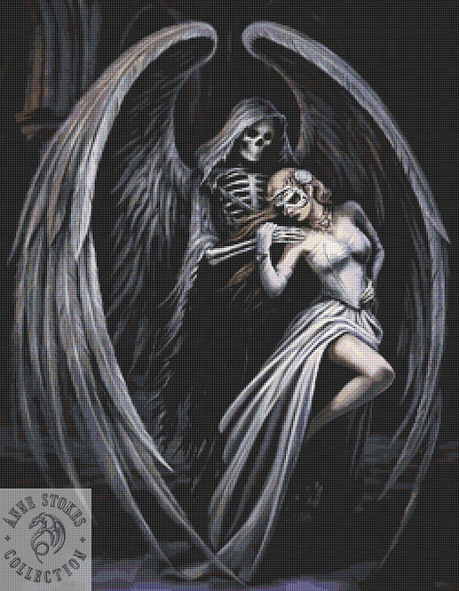 Dance with Death Cross Stitch Chart PDF - Anne Stokes