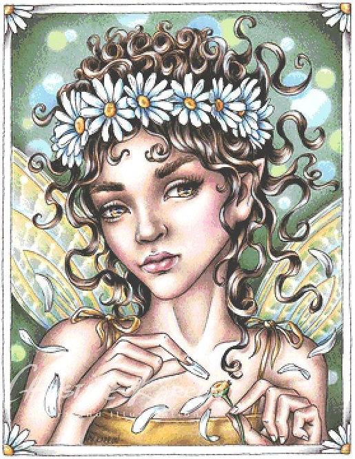 Daisy Fairy Cross Stitch Chart - Kit