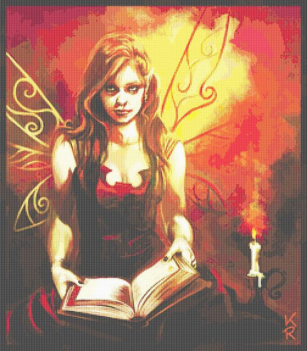 Black Fae Cross Stitch Chart  - Kit - Fantasy - Fairy