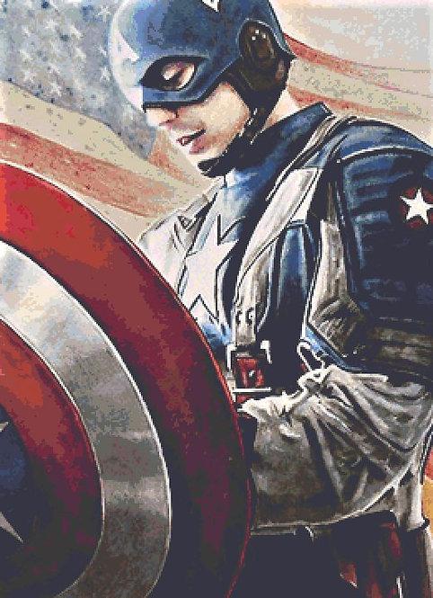 Army of One Cross Stitch Chart - Kit  - Captain America -Avengers - Desbois