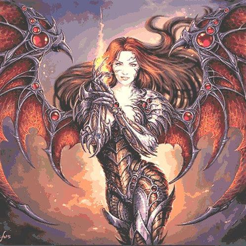 Dark Witchblade Large Cross Stitch Chart PDF