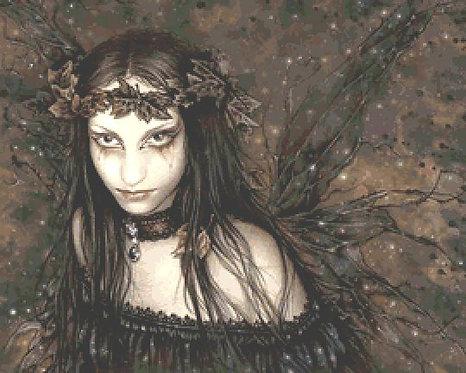 Dark Fairy Cross Stitch Chart - Kit  - Goth - Fantasy