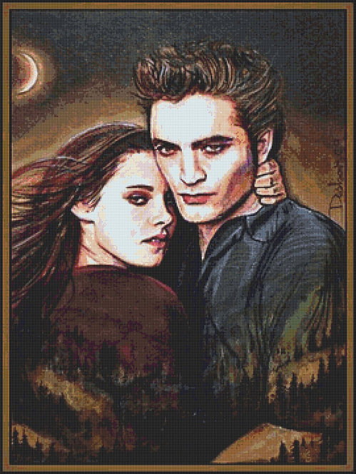 New Moon Cross Stitch Chart - Kit  - Twilight - Desbois