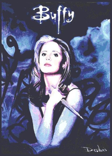 Buffy the Vampire Slayer Cross Stitch  Chart - Kit - Desbois
