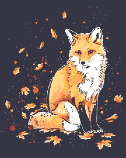 Fox Cross Stitch Kit - Chart