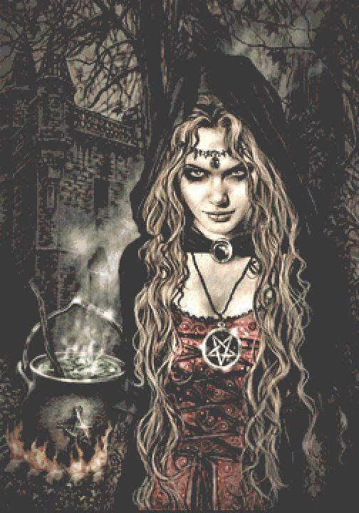Witch Large Cross Stitch Chart PDF