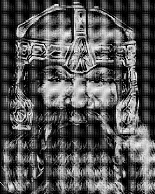 Gimli Cross Stitch Chart - Kit - Dwarf - Lord of the Rings - Kupp