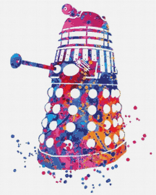 Doctor Who Dalek Cross Stitch Kit