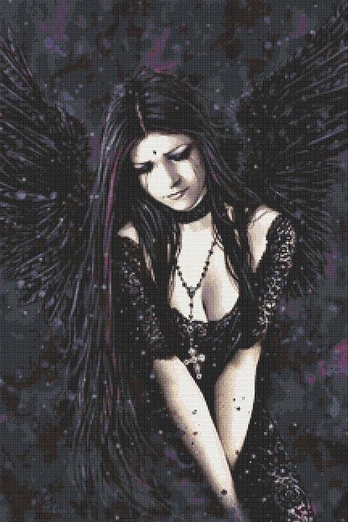 Large Dark Angel Cross Stitch Kit  - Goth - Fantasy