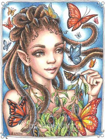 Butterfly Fairy Cross Stitch Chart - Kit