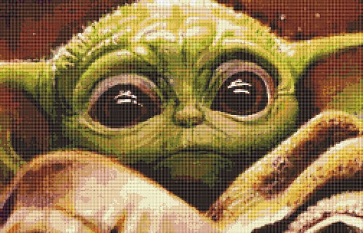 Baby Yoda Cross Stitch - Chart - Kit - Star Wars
