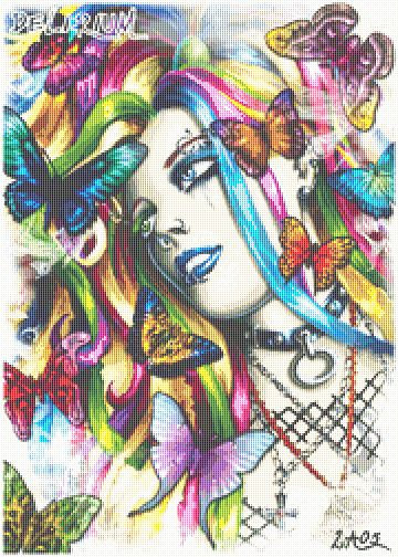 Delirium Cross Stitch - Punk - Butterfly - Gothic - Fantasy - Candra