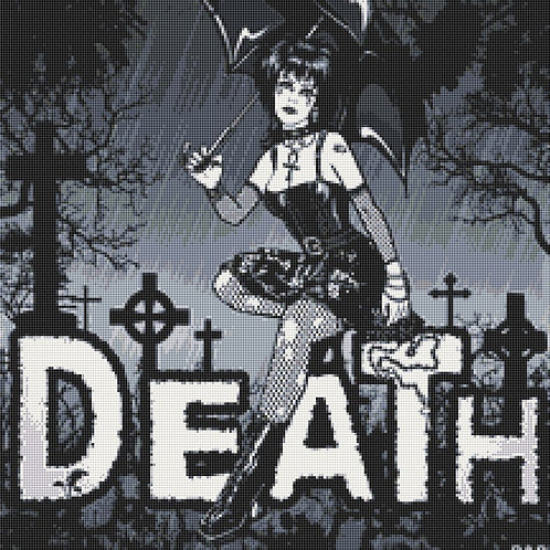 Death Cross Stitch Chart PDF