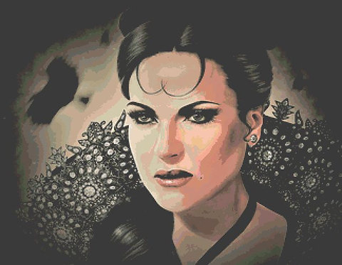 Evil Queen Cross Stitch - Once Upon A Time - Fantasy - Goth - Inna