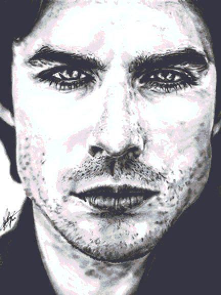 Damon Salvatore Cross Stitch Chart - Kit - Vampire Diaries - Ian Somerhalder