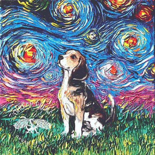 Beagle Cross Stitch Chart - Kit - Dog