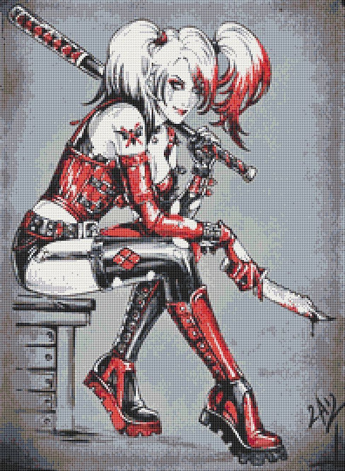 Dark Harley Cross Stitch Chart PDF
